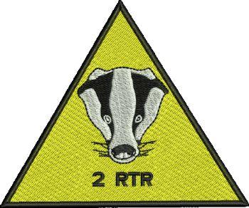 2 RTR Badger Badge